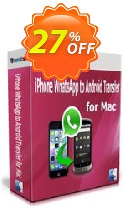 Backuptrans iPhone WhatsApp to Android Transfer for Mac Coupon, discount Backuptrans iPhone WhatsApp to Android Transfer for Mac(Personal Edition) formidable promo code 2021. Promotion: impressive discount code of Backuptrans iPhone WhatsApp to Android Transfer for Mac(Personal Edition) 2021