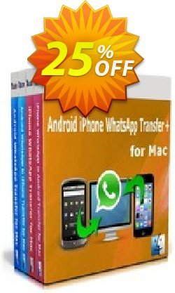 Backuptrans Android iPhone WhatsApp Transfer plus for Mac Coupon, discount Holiday Deals. Promotion: wondrous offer code of Backuptrans Android iPhone WhatsApp Transfer + for Mac(Personal Edition) 2021