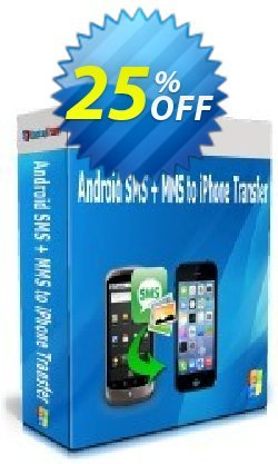 Backuptrans Android SMS + MMS to iPhone Transfer - Business Edition  Coupon, discount Holiday Deals. Promotion: hottest promo code of Backuptrans Android SMS + MMS to iPhone Transfer (Business Edition) 2021