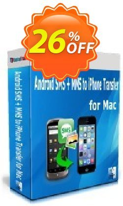 Backuptrans Android SMS + MMS to iPhone Transfer for Mac Coupon discount Holiday Deals - awesome offer code of Backuptrans Android SMS + MMS to iPhone Transfer for Mac (Personal Edition) 2020