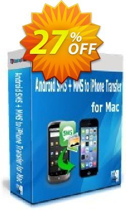 Backuptrans Android SMS + MMS to iPhone Transfer for Mac - Family Edition  Coupon discount Holiday Deals. Promotion: amazing promo code of Backuptrans Android SMS + MMS to iPhone Transfer for Mac (Family Edition) 2021