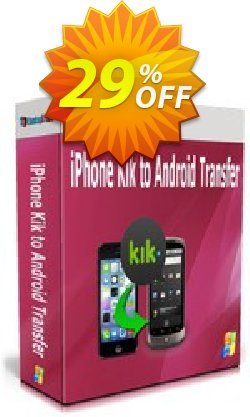 Backuptrans iPhone Kik to Android Transfer Coupon discount Backuptrans iPhone Kik to Android Transfer (Personal Edition) excellent promo code 2020. Promotion: dreaded discount code of Backuptrans iPhone Kik to Android Transfer (Personal Edition) 2020