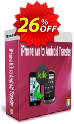 Backuptrans iPhone Kik to Android Transfer - Family Edition  Coupon discount Backuptrans iPhone Kik to Android Transfer (Family Edition) marvelous discounts code 2020 - excellent promo code of Backuptrans iPhone Kik to Android Transfer (Family Edition) 2020