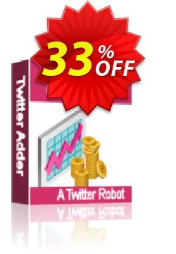 The Twitter Adder Coupon, discount The Twitter Adder staggering discount code 2019. Promotion: staggering discount code of The Twitter Adder 2019