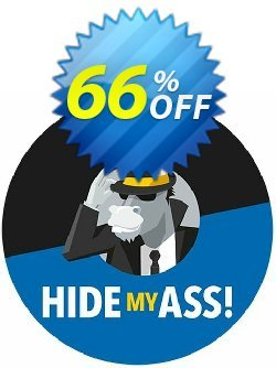 Hide My Ass! Pro VPN 1 Month Coupon, discount 1 Month HMA! Pro VPN $4.99 awful discount code 2020. Promotion: awful discount code of 1 Month HMA! Pro VPN $4.99 2020