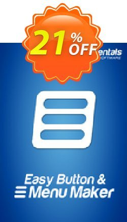 Easy Button & Menu Maker 5 Pro (Extended) Coupon, discount Easy Button & Menu Maker 5 Pro (Extended) amazing sales code 2019. Promotion: amazing sales code of Easy Button & Menu Maker 5 Pro (Extended) 2019