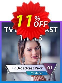 TV Broadcast Title Pack for PowerDirector Coupon, discount TV Broadcast Title Pack for PowerDirector Deal. Promotion: TV Broadcast Title Pack for PowerDirector Exclusive offer