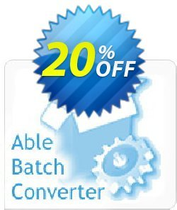 Able Batch Converter Coupon, discount Able Batch Converter exclusive discount code 2020. Promotion: exclusive discount code of Able Batch Converter 2020