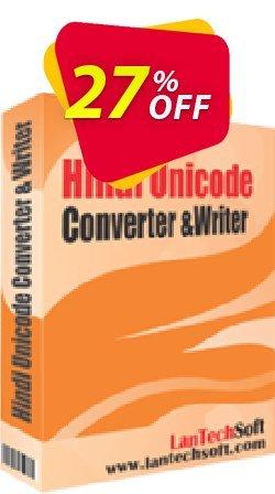 LantechSoft Hindi Unicode Converter & Writer Coupon, discount Christmas Offer. Promotion: impressive promo code of Hindi Unicode Converter & Writer 2020
