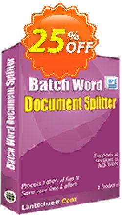 Batch Word Document Splitter Coupon, discount 10%OFF. Promotion: dreaded discount code of Batch Word Document Splitter 2019