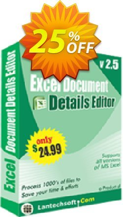 Excel Document Details Editor Coupon, discount 10%OFF. Promotion: big sales code of Excel Document Details Editor 2019