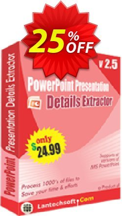 PowerPoint Presentation Details Extractor Coupon, discount 10%OFF. Promotion: wonderful discount code of PowerPoint Presentation Details Extractor 2019