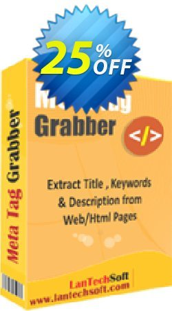Meta Tag Grabber Coupon, discount 10%OFF. Promotion: hottest deals code of Meta Tag Grabber 2019