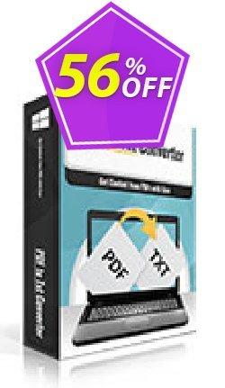 PDFtoTxt Converter Coupon, discount PDFtoTxt Converter excellent discount code 2020. Promotion: excellent discount code of PDFtoTxt Converter 2020