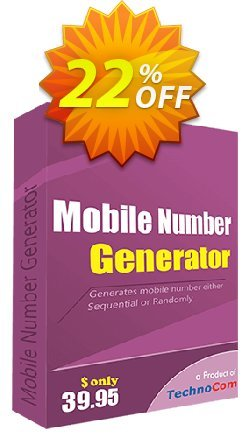 Mobile Number Generator Coupon, discount 10%OFF. Promotion: amazing sales code of Mobile Number Generator 2019