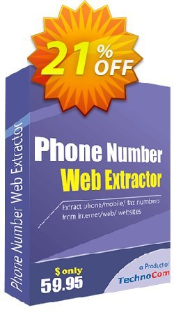 Phone Number Web Extractor Coupon, discount 10%OFF. Promotion: special promo code of Phone Number Web Extractor 2019