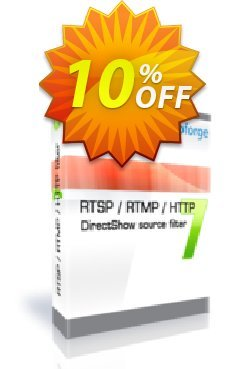 RTSP RTMP HTTP DirectShow source filter - One Developer Coupon, discount 10%. Promotion: big discounts code of RTSP RTMP HTTP DirectShow source filter - One Developer 2019
