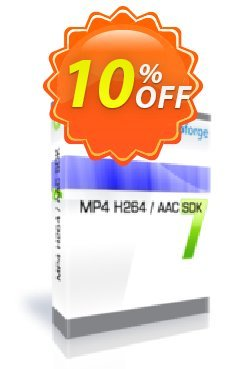 MP4 H264 / AAC SDK - One Developer Coupon, discount 10%. Promotion: awful discounts code of MP4 H264 / AAC SDK - One Developer 2019