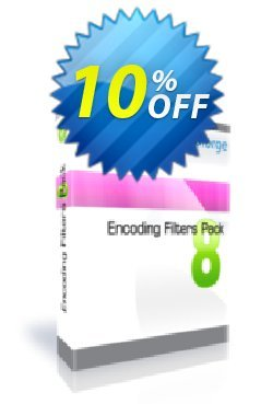 Encoding Filters Pack - One Developer Coupon, discount 10%. Promotion: exclusive sales code of Encoding Filters Pack - One Developer 2019
