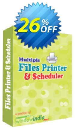 WindowIndia Multiple Files Printer and Scheduler Coupon, discount Christmas OFF. Promotion: awful discount code of Multiple Files Printer and Scheduler 2020