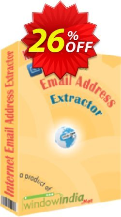 WindowIndia Internet Email Address Extractor Coupon, discount Christmas OFF. Promotion: amazing promotions code of Internet Email Address Extractor 2020