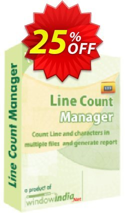 WindowIndia Line Count Manager Coupon, discount Christmas OFF. Promotion: exclusive deals code of Line Count Manager 2020