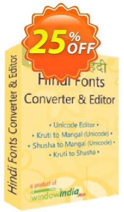 WindowIndia Hindi Fonts Converter and Editor Coupon, discount Christmas OFF. Promotion: wondrous deals code of Hindi Fonts Converter and Editor 2020