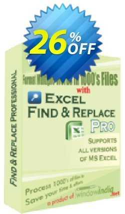 WindowIndia Excel Find and Replace PRO Coupon, discount Christmas OFF. Promotion: staggering promotions code of Excel Find and Replace Professional 2020