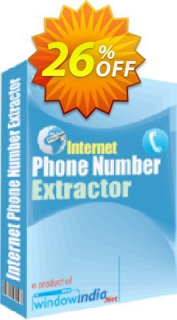 WindowIndia Internet Phone Number Extractor Coupon, discount Christmas OFF. Promotion: big sales code of Internet Phone Number Extractor 2020
