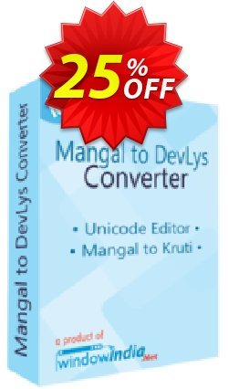 WindowIndia Mangal to DevLys Converter Coupon, discount Christmas OFF. Promotion: awful promo code of Mangal to DevLys Converter 2020