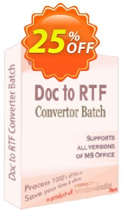WindowIndia Doc to RTF Converter Batch Coupon, discount Christmas OFF. Promotion: awful promo code of Doc to RTF Converter Batch 2020