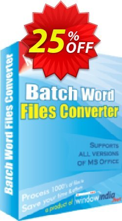 WindowIndia Batch Word Files Converter Coupon, discount Christmas OFF. Promotion: awesome discounts code of Batch Word Files Converter 2020