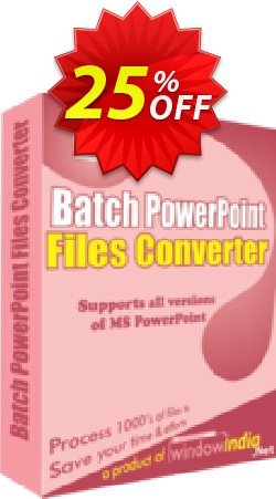 Batch PowerPoint File Converter Coupon, discount 25% OFF. Promotion: amazing promotions code of Batch PowerPoint File Converter 2019