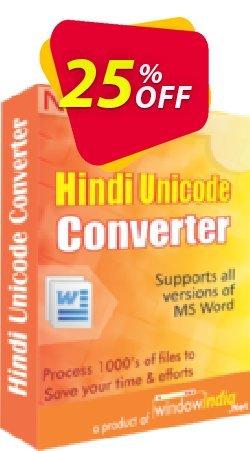 Hindi Unicode Converter Coupon, discount 25% OFF. Promotion: wondrous promotions code of Hindi Unicode Converter 2019
