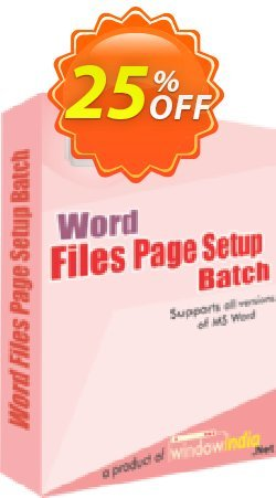 WindowIndia Word File Page Setup Batch Coupon, discount Christmas OFF. Promotion: staggering promotions code of Word File Page Setup Batch 2020