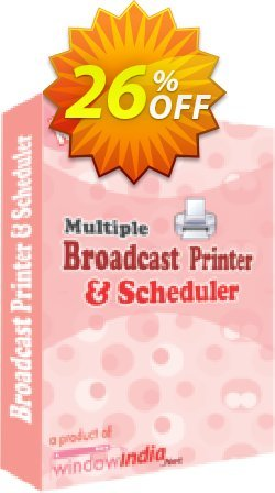 WindowIndia Multiple Broadcast Printer N Scheduler Coupon, discount Christmas OFF. Promotion: imposing promo code of Multiple Broadcast Printer N Scheduler 2020