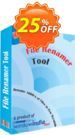 WindowIndia File Renamer Tool Coupon, discount Christmas OFF. Promotion: wondrous deals code of File Renamer Tool 2020