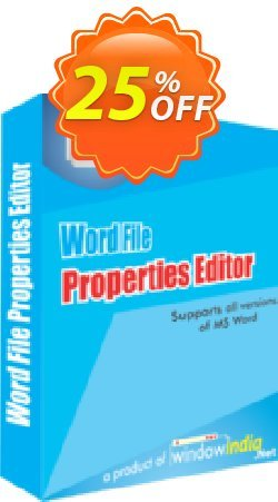 WindowIndia Word File Properties Editor Coupon, discount Christmas OFF. Promotion: special promo code of Word File Properties Editor 2020