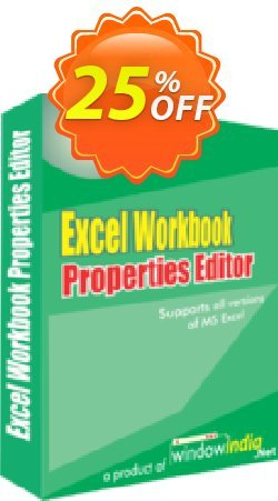 WindowIndia Excel Workbook Properties Editor Coupon, discount Christmas OFF. Promotion: stirring discounts code of Excel Workbook Properties Editor 2020
