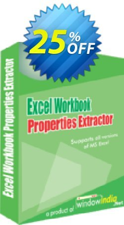 WindowIndia Excel Workbook Properties Extractor Coupon, discount Christmas OFF. Promotion: exclusive discounts code of Excel Workbook Properties Extractor 2020
