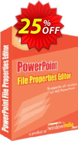 WindowIndia PowerPoint File Properties Editor Coupon, discount Christmas OFF. Promotion: amazing deals code of PowerPoint File Properties Editor 2020