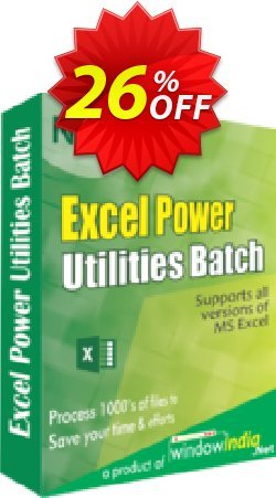 WindowIndia Excel Power Utilities Coupon, discount Christmas OFF. Promotion: best offer code of Excel Power Utilities 2020