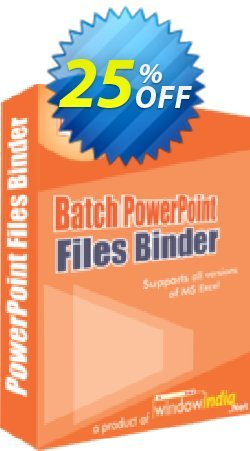 WindowIndia Batch PowerPoint Files Binder Coupon, discount Christmas OFF. Promotion: wonderful promotions code of Batch PowerPoint Files Binder 2020