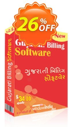 WindowIndia Gujarati Billing Software Coupon, discount Christmas OFF. Promotion: staggering discounts code of Gujarati Billing Software 2020