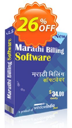 WindowIndia Marathi Billing Software Coupon, discount Christmas OFF. Promotion: big promotions code of Marathi Billing Software 2020