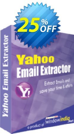 WindowIndia Yahoo Email Extractor Coupon, discount Christmas OFF. Promotion: formidable discount code of Yahoo Email Extractor 2020