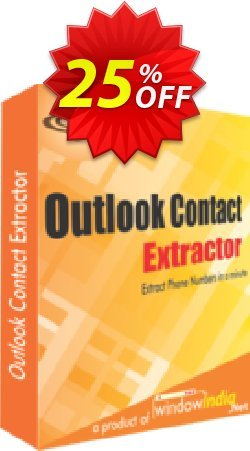 WindowIndia Outlook Contact Extractor Coupon, discount Christmas OFF. Promotion: stunning sales code of Outlook Contact Extractor 2020