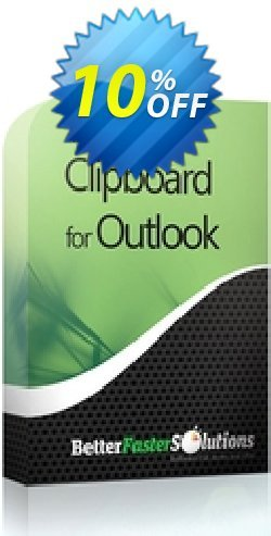 Outlook Clipboard: 1 Seat Coupon, discount 2CHECKOUTAFFILIATE10 - 10% Off. Promotion: amazing promo code of Outlook Clipboard: 1 Seat 2021