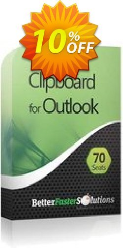 Outlook Clipboard: 70 Seats - Annual Subscription Coupon, discount 2CHECKOUTAFFILIATE10 - 10% Off. Promotion: impressive promotions code of Outlook Clipboard: 70 Seats - Annual Subscription 2021