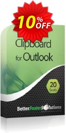 Outlook Clipboard: 20 Seats - Annual Subscription Coupon, discount 2CHECKOUTAFFILIATE10 - 10% Off. Promotion: fearsome deals code of Outlook Clipboard: 20 Seats - Annual Subscription 2021